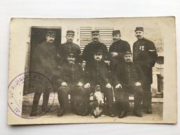 Foto Ak Soldats Francais In Uniform Regiment 54 D'artillerie Chien - Weltkrieg 1914-18