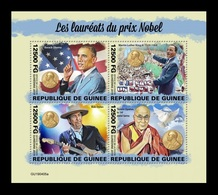 Guinea 2019 Mih. 13964/67 Famous Nobel Prize Winners. Barack Obama. Martin Luther King Jr. Bob Dylan. Dalai Lama MNH ** - República De Guinea (1958-...)