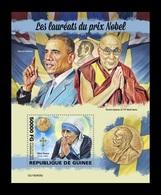 Guinea 2019 Mih. 13968 (Bl.2425) Famous Nobel Prize Winners. Mother Teresa. Barack Obama. Dalai Lama MNH ** - Guinée (1958-...)