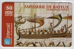 INTERCALL  - Tapisserie De Bayeux - 50 Unités - Rouge - Tirage : 2.600 Ex - Code Gratté - Voir Scans - Frankrijk