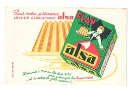 Buvard Pour Votre Pâtisserie Levure Alsacienne Alsa Flan Sucré - Cake & Candy