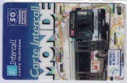 INTERCALL  -Bus 24 Gare Saint Lazare - 50 F - Tirage : 5.300 Ex - Code Gratté - Voir Scans - Frankrijk
