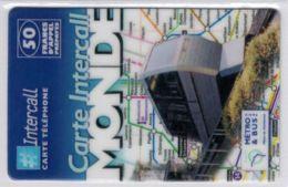 INTERCALL  - Funiculaire Montmartre - 50 F - Tirage : 5.300 Ex - Code Gratté - Voir Scans - Frankrijk