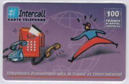 INTERCALL  - Cabine Intercall Fond Parme - 100 F - Tirage : ? Ex - Code Gratté - Voir Scans - Frankrijk