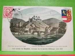 Les Ruines De Vianden, Berceau De La Famille D'orange, Vers 1840. - Postkaarten