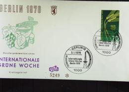 """Berlin: FDC Mit 70 Pf """"Grüne Woche"""" Vom 5.1.76 Auf Numerierten Umschlag: 5249  Knr: 516 - FDC: Covers"""