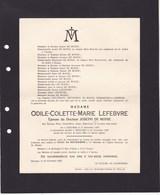 IZEGEM ROESELAARE Roulers LEFEBVRE Odile épouse DE MONIE 1859-1929 Famille NEELEMANS - Décès