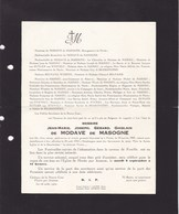 FLOREE ASSESSE Jean-Marie De MODAVE De MASOGNE  1941 - 1952 DUISBERGEN Famille De MAHIEU BELPAIRE - Décès
