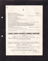 TIELT Leonce DEMEYERE époux LOOSVELDT Avocat 1910-1957 - Décès
