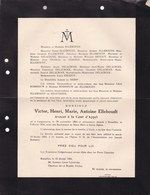 LANGEMARCQ UCCLE Victor ELLEBOUDT Avocat Cour D'Appel  1864-1934 DELACROIX REGOUT ROSSEEUW - Décès
