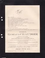 LIEGE VIENNE Industriel CHAUDOIR Gustave Grivegnée 1834 - Waldfried 1912 Famille VERSTRAETE LECHAT GLOXIN - Décès