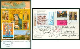 Croatia 1992 FDC Croatian Sheet Surcharge Stamp Of Charity Stamp Radisha Mother Of God On Trsat Radisa 1991 - Kroatien