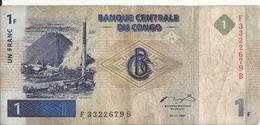 CONGO 1 FRANC 1997 VG+ P 85 - Congo