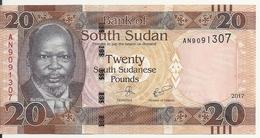SOUDAN SOUTH 20 POUNDS 2017 UNC P 13 C - Soudan