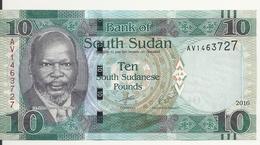 SOUDAN SOUTH 10 POUNDS 2016 UNC P 12 B - Soudan