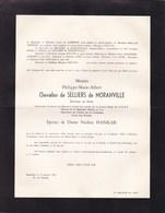 40-45 Ancien RAF Philippe De SELLIERS De MORANVILLE époux HANKAR 1915-1958 Accident D'avion à BELMONT LAUSANNE - Décès