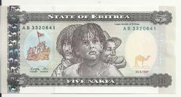 ERYTHREE 5 NAKFA 1997 UNC P 2 - Erythrée