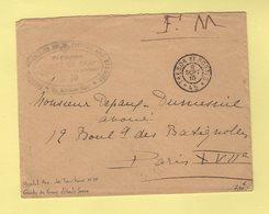 Comite De Gray - Haute Saone - Hopital Auxiliaire N°10 - Tresor Et Postes 45 - 9 Sept 1915 - Guerre De 1914-18