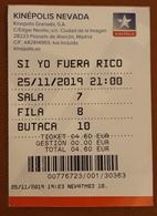 ESPAÑA TICKET CINE - SI YO FUERA RICO - Tickets - Entradas