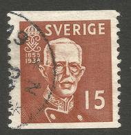 SWEDEN. 15o BROWN USED - Used Stamps