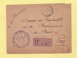 Recommande Secteur 24c - Tresor Et Postes 24 - 106e Regiment D Artillerie Lourde - 1916 - Guerra De 1914-18
