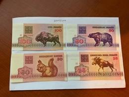 Belarus  Uncir Set 4 Banknotes - Belarus