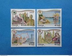 2007 ITALIA FRANCOBOLLI NUOVI STAMPS NEW MNH** REGIONI D'ITALIA MARCHE SARDEGNA TRENTINO ALTO ADIGE UMBRIA - - 6. 1946-.. Repubblica