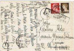 LCTN59/LE/5 - ITALIE CP DE PROPAGANDE ANTI URSS MANTA (CN) / TUNIS MARS 1943 CENSURE - Propagande De Guerre