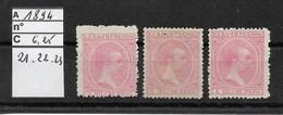 CUBA / 1894 / IMPRIMES /YT 21, 22 Et 23 NEUFS Sans Gomme   C* 2006 = 6.25 Euros / REGROUPEMENT - Prefilatelia