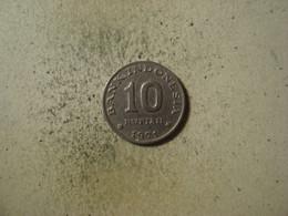 MONNAIE INDONESIE 10 RUPIAH 1971 - Indonésie