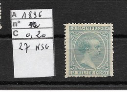 CUBA / 1896 / IMPRIMES /YT 26 NEUF Sans Gomme   C* 2006 = 0.20 Euros / - Prefilatelia