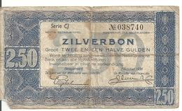 PAYS-BAS 2.50 GULDEN 1938 VG P 62 - [2] 1815-… : Regno Dei Paesi Bassi