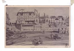 35 PARAME Litho Dessin Chromos HLM  Bristol Palace Hotel De La Plage Bains Vestiaire Chopier Barque La Mouette - Parame