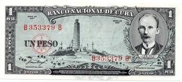 1 PESOS 1957 BANCO NACIONAL SIN CIRCULAR - Cuba