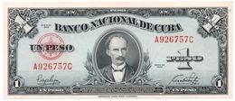 1 PESO 1949 AÑO ESCASO BANCO NACIONAL UNCIRCULATED - Cuba