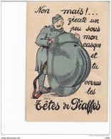 MILITARIA HUMOURISTIQUE LES TETES DE PIAFFES CARTE A SYSTEME - Humor