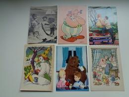 Beau Lot De 60 Cartes Postales De Fantaisie CPSM  Grand Format     Mooi Lot Van 60 Postkaarten Fantasie  Groot Formaat - Postkaarten