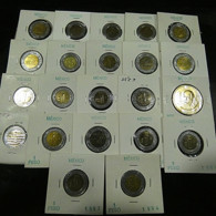 Mexico 22 Coins All Varnished - Monnaies & Billets