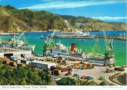 Passenger Ship Ferry Ciudad De Palma In Tenerife. Portuguese Liner Santa Maria Also Docking.Trasmediterranea. - Paquebote