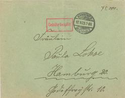 INFLA Einzeilig Rot Gebühr Bezahlt Rechteck - Zweikreissteg-Stempel: Hannover-Buchholz 17.9.1923 75.000 Knick Mittig - Storia Postale