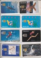 8 Télécartes Publiques De France. Sports.  Illustrées. Toutes Différentes. Etat Moyen. - Sport