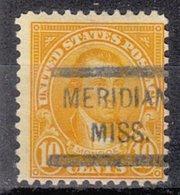 USA Precancel Vorausentwertung Preo, Locals Mississippi, Meridan 642-572 - Estados Unidos