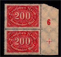DEUTSCHES REICH 1922 Nr 248 Mit Plattennummer: 6 (94527) - Deutschland