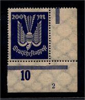 DEUTSCHES REICH 1923 Nr 267 Mit Plattennummer: 2 (94539) - Deutschland