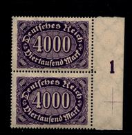 DEUTSCHES REICH 1922 Nr 255 Mit Plattennummer: 1 (94535) - Deutschland