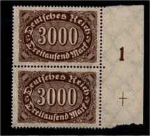 DEUTSCHES REICH 1922 Nr 254 Mit Plattennummer: 1 (94534) - Deutschland