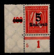 DEUTSCHES REICH 1923 Nr 277 Mit Plattennummer: 5 (94541) - Deutschland
