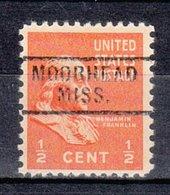 USA Precancel Vorausentwertung Preo, Locals Mississippi, Moorhead 729 - Vereinigte Staaten
