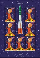 Kazakhstan 2019.Souvenir Sheet. 85 Years Since The Birth Of Gagarin.NEW! - Kazakhstan