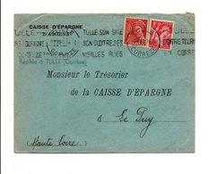 AFFRANCHISSEMENT COMPOSE SUR LETTRE DE TULLE CORREZE 1940 - Marcophilie (Lettres)